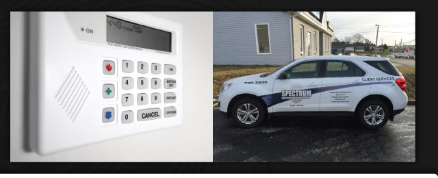 Keypad for alarm and Spectrum van